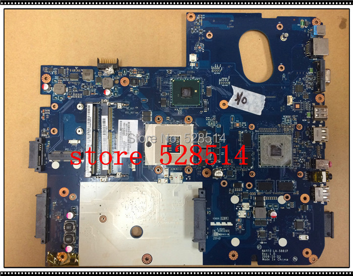 original MBWHH02002 LA-5881P laptop motherboard for gateway nv79 motherboard MB.WHH02.002 100% Test ok