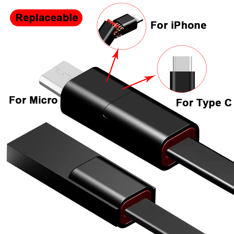 Suntaiho USB Cable For iPhone XR Phone Charge for iPhone 7 Plus SE Micro usb cable for Xiaomi mi 8/OPPO/One Plus 6 USB Type C