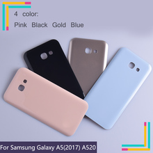 50Pcs/lot For Samsung Galaxy A5 2017 A520 A520F SM-A520F Housing Battery Cover Back Cover Case Rear Door Chassis A5 2017 Shell цена и фото