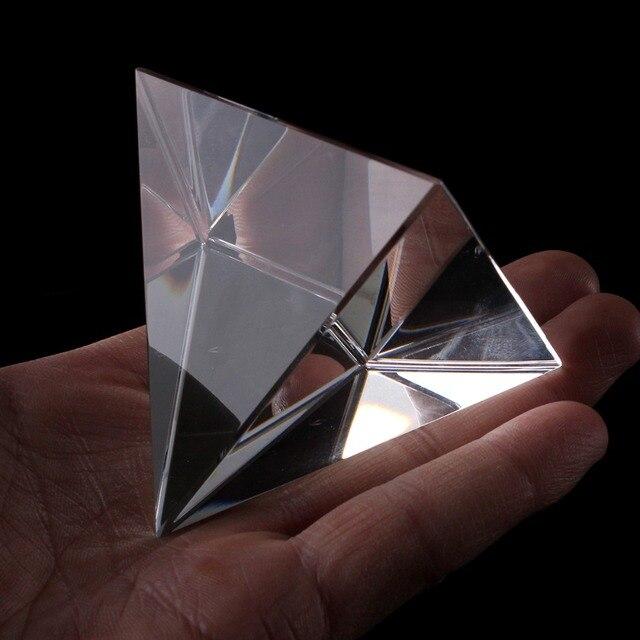6 CM K9 AAA Crystal Glas Piramide Presse-papier natuursteen en 2.3 inch mineralen kristallen Fengshui Beeldje Voor Home Office decor