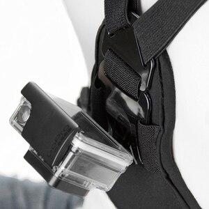 Image 5 - Snowhu para gopro acessórios elástico no peito cinto de montagem cinta gopro hero 9 8 7 6 5 xiaomi yi eken ação câmera gp204