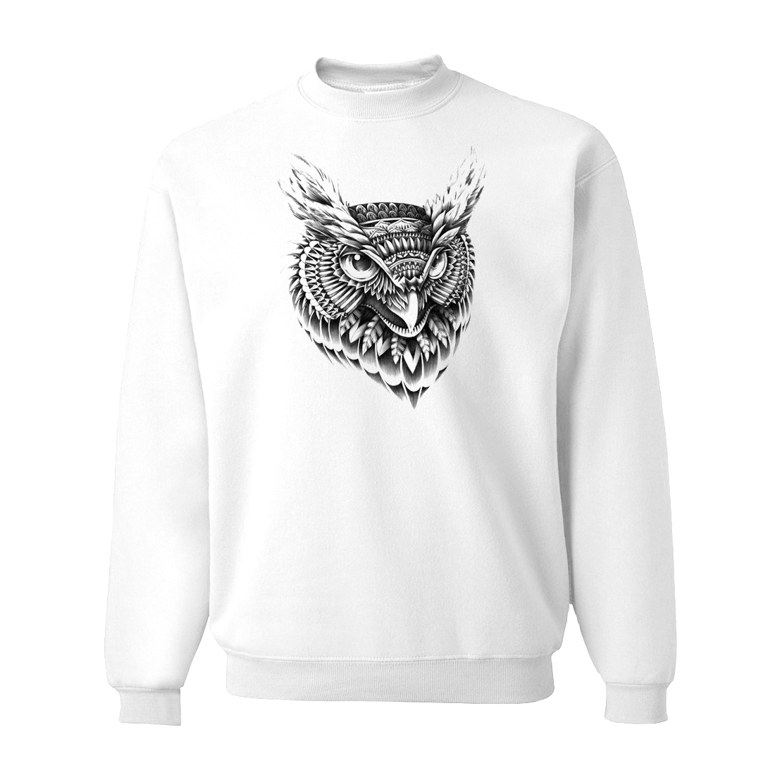 Owl White Sweatshirts For Men 2019 New Spring Animal Men's Hoodies Harajuku Sweatshirt Hip Hop Streetwear Men's Pollovers CM01