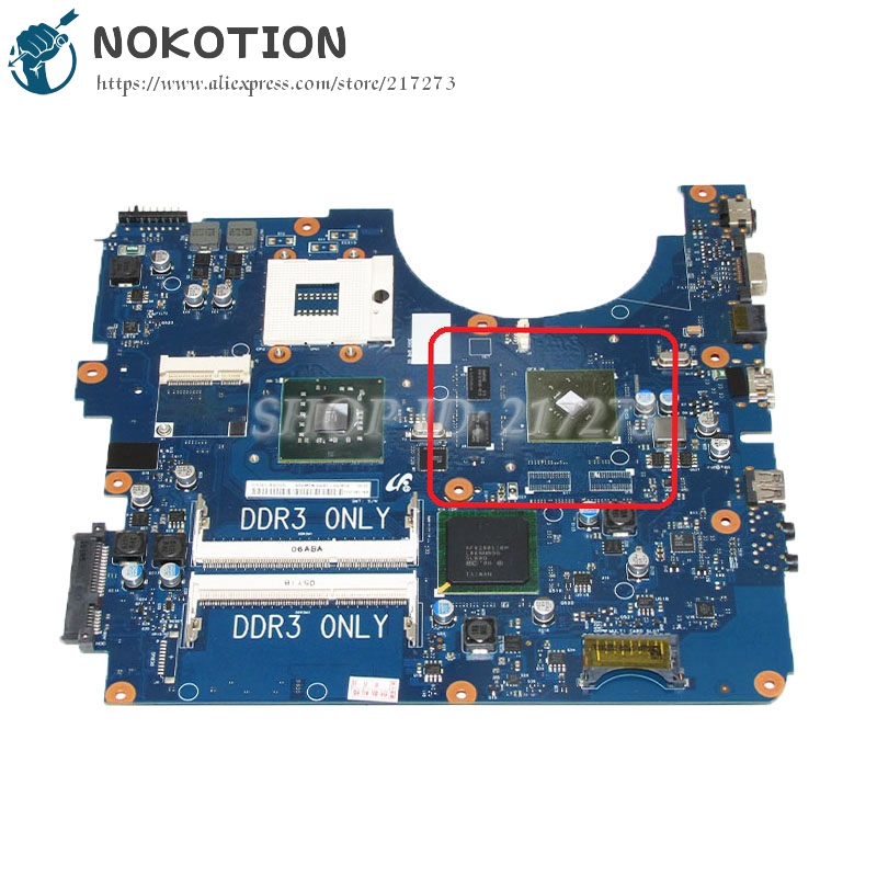 NOKOTION For Samsung NP-R530 R530 Laptop motherboard DDR3 PM45 Free CPU GT310M Video card BA92-06345A BA92-06345B nokotion ba92 06345a ba92 06345b laptop motherboard for samsung np r530 r530 pc main board ddr3 pm45 gt310m