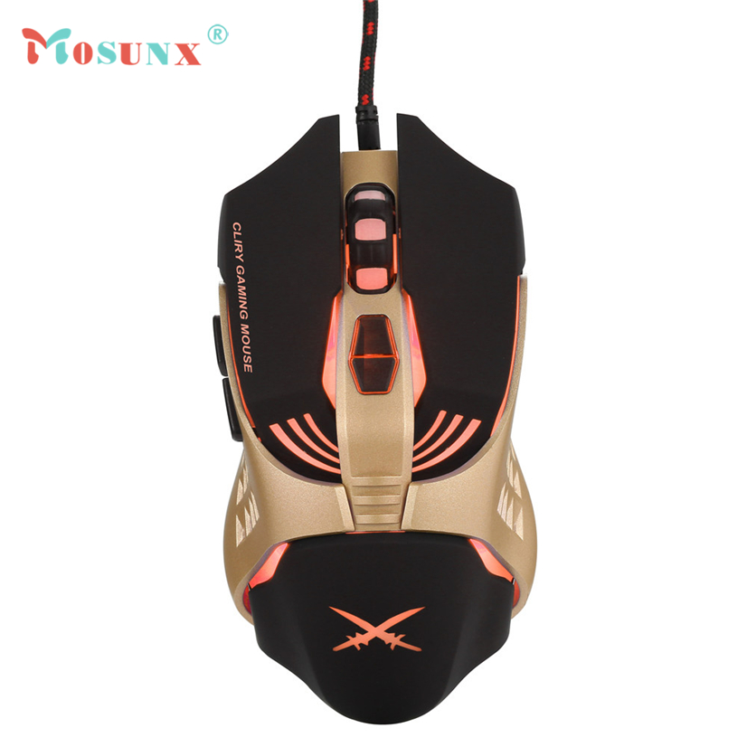 X2 USB Wired 4800dpi 7 Buttons Optical Gaming Mouse LED Backlight For PC Mice APR19 ...