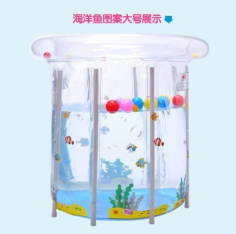 2016 new style Baby pool baby swimming pool bracket Preschool transparent thick tasteless