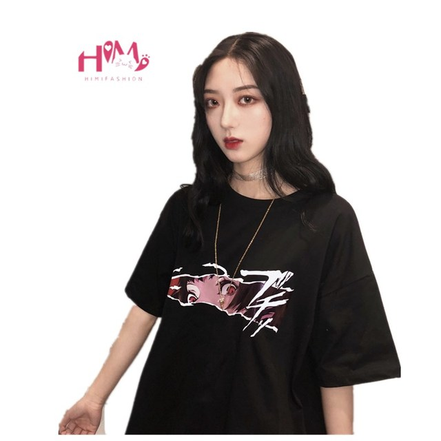 58beab469 2019 Summer Gothic Women T-shirt Japanese Harajuku Graphic Pattern Female  Tee Tops Kpop Ulzzang 90s Anime Streetwear Clothes