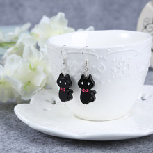 1pair Fashion Craft Resin cat Drop Earrings For Women Japan/Korean Fashion Jewelry Wholesale(China)