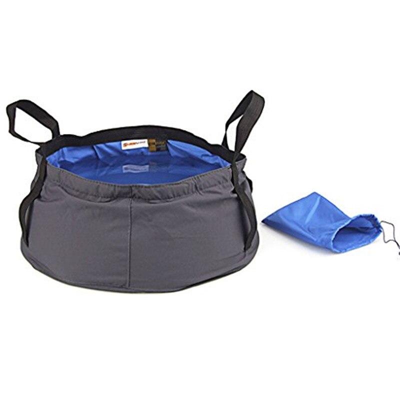 Mounchain Quality 12L Ultra-light Outdoor Nylon Folding Water Washbasin Portable Wash Bag Quick Dry Camping Fishing Travel Kit