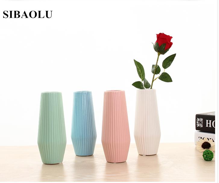pequeo florero de cermica creativa moderna simple porcelana florero jarrn decorativo de la boda mesa de