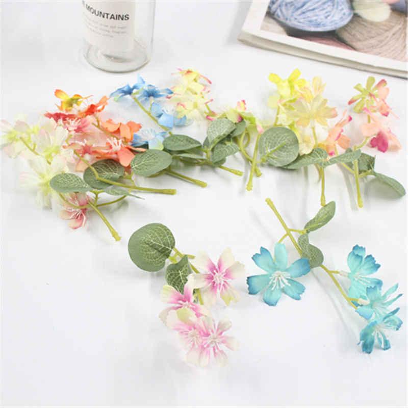 1 ชิ้น/ล็อตดอกไม้ผ้าไหมประดิษฐ์ดอกไม้จำลองคุณภาพสูงดอกเบญจมาศ Daisy เนื้อเยื่อ Hand Made งานแต่งงานตกแต่ง