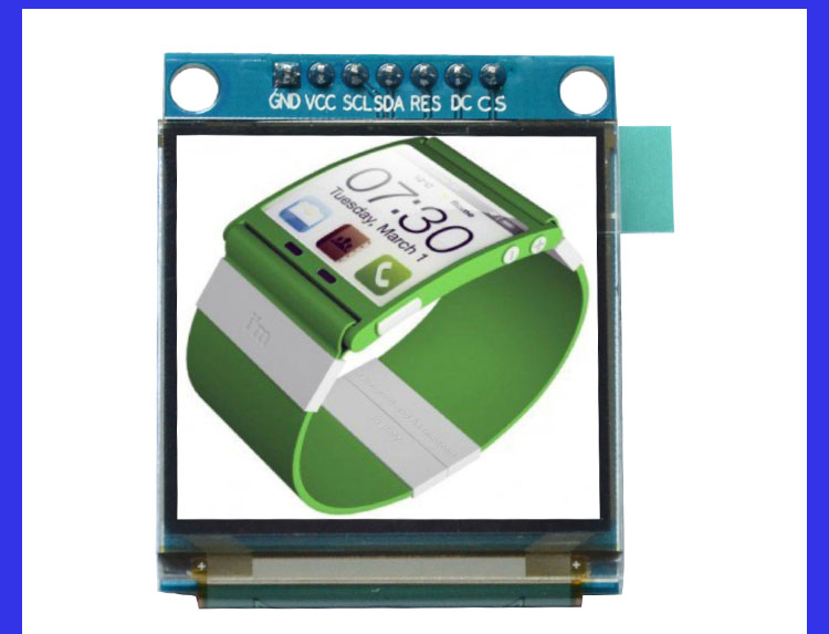 1.5 Inch 7PIN Full Color OLED Module Display Screen SSD1351 Drive IC 128(RGB)*128 SPI Interface