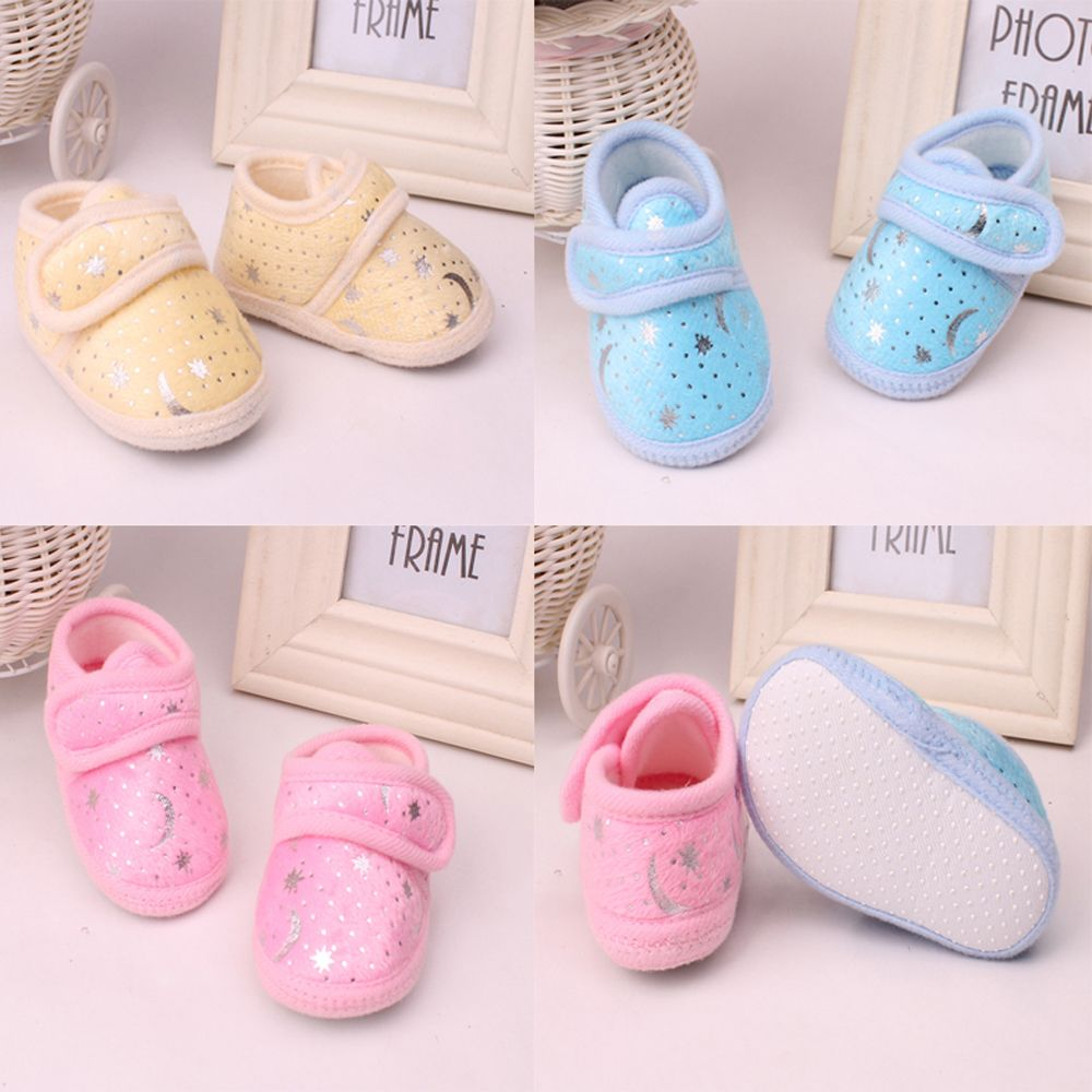 New Non-Slip Newborn Infant Baby Toddler Soft bottom Shoes 3 Colors Girls Boys