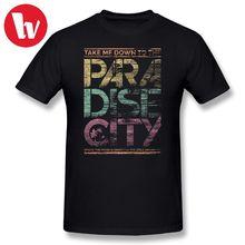 Guns N Roses T Shirt Men Paradise City Letter Print Awesome Plus Size 5XL 6XL T-Shirt Men's Short Sleeve Cotton Music Tee Shirt paradise city