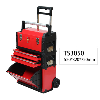 Portable multi-function trolley toolbox 3 colors
