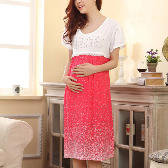 Mothers Breastfeeding Dress Pregnant Women Clothes Lace Nursing ...