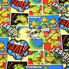 105X100cm Green Comic Patch Ninja Turtles Full Color Cotton Fabric For Baby Boy Clothes Hometextile Patchwork