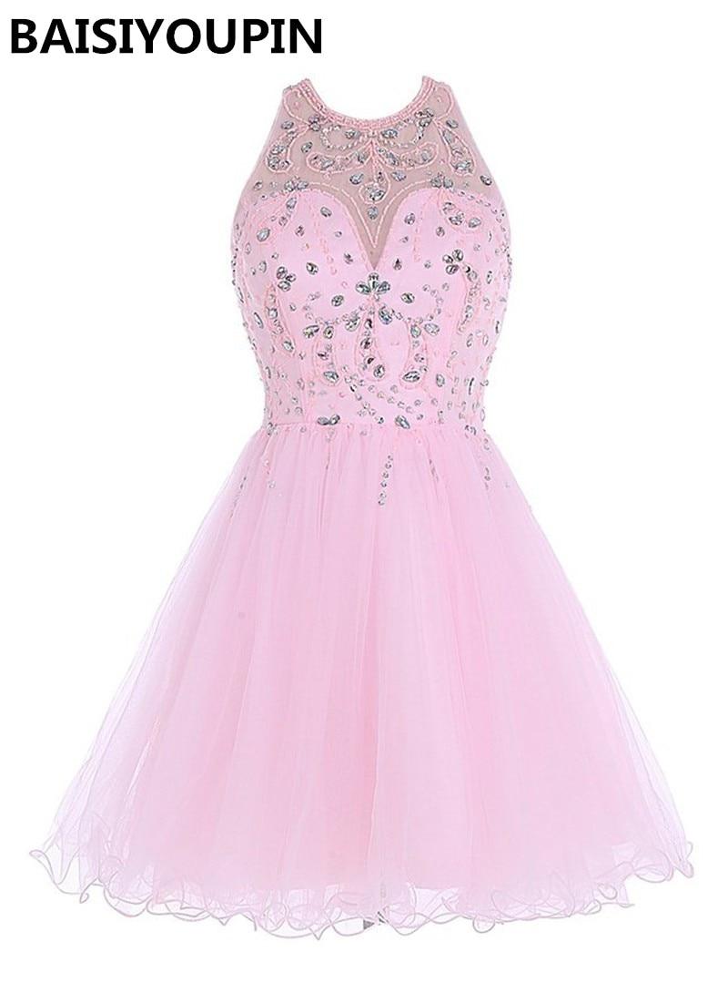 Corto de color rosa Vestidos de Fiesta 2016 Vestido 15 Anos Curto ...