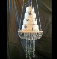luxurry big tall multi layer Cake Stand Crystal Acrylic cake table centerpieces crystal wedding cake holder flower display