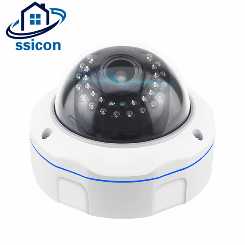 SSICON Waterproof 5MP Security AHD Camera 2.8-12mm Lens Vandalproof 4* Manual Zoom Night Vision Dome CCTV Camera With OSD Menu ssicon indoor 4 in 1 analog camera 1080p home security 20m ir distance night vision surveillance cctv cameras with osd menu