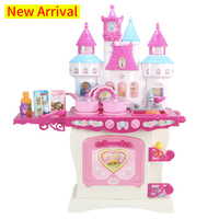 New Arrival About 73 cm Height Pretend Play Kitchen Set Castle Toy Gift For Children Simulation Cooking Cookware Kitchen Toy D11