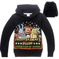 Boys Autumn Black Grey Pullover Sweatshirt Five Nights At Freddy S Cool Children Custom Funny Cotton