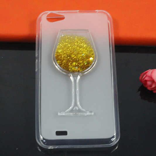 Miękkie etui z TPU na telefon dla Vertex Impress szczęście Glitter gwiazda ciecz Quicksand kieliszek do wina tylna pokrywa dla Vertex Impress Luck Fundas