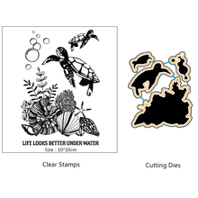AZSG Underwater world/Sea turtles Clear Stamps/seal for DIY Scrapbooking/Card Making/Photo Album Decoration Supplies