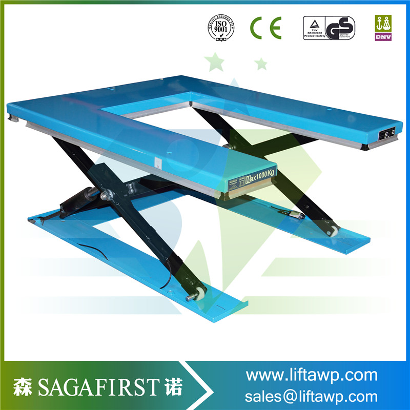 SINOFIRST Very Quality  Stationary Scissor Hydraulic Lift Tables Indoor Workshop