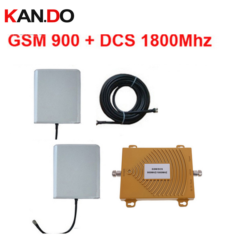 new dual band repeater GSM 900Mhz Booster+dcs 1800Mhz Repeater dual band booster kits w/ cable &antennas,dual band dcs booster