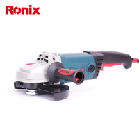 Ronix 220V Power Tools 230mm Angle Grinder 2400W High Power Speed Control 6500RPM Electric Angle Grinder Machine Model 3221