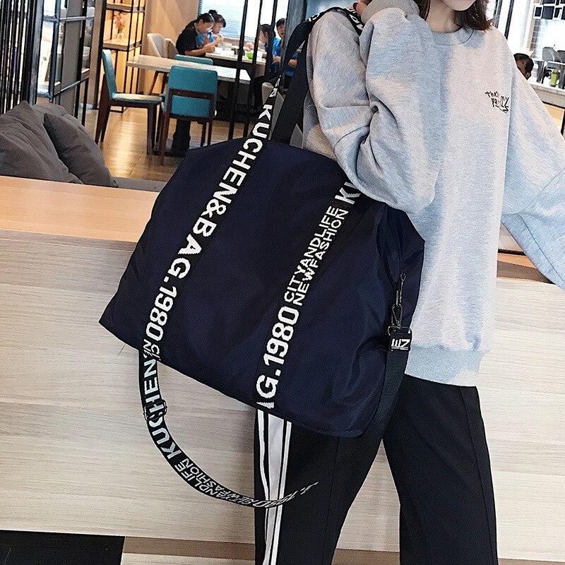 Large Casual Tote Women's Handbag Shoulder Handbags Oxford Material Large Capacity Bags For Women Letters Shopping Bag