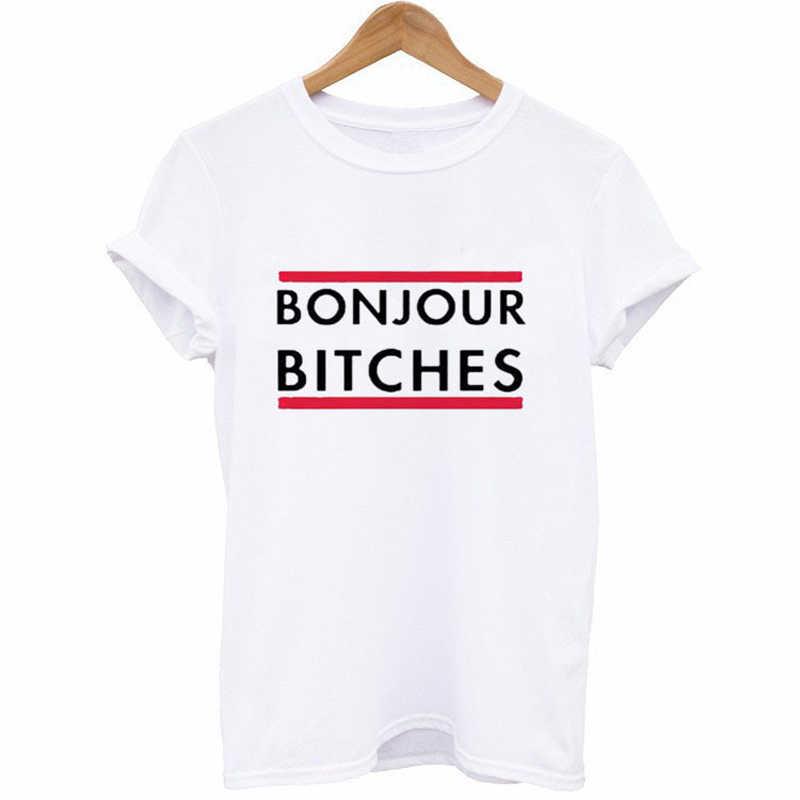 2018 женские белые повседневные Забавные Рубашки для леди девушки Топ футболки tumblr принт черный o-образный вырез короткий рукав блузки Летняя мода