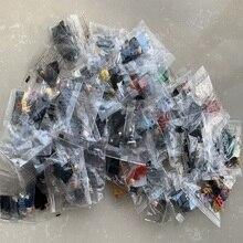 도매 20/50/100pcs NINJAGOES 무작위 벼룩 시장 빌딩 블록 아이들을위한 벽돌 파티 선물 완구