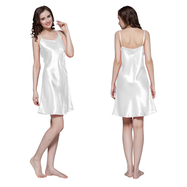Lilysilk 100% Silk Nightgown Women Mini Night Dress White 22 Momme Pure Sleepwear Sexy Lingerie Camison Ladies Dresses Sleeping