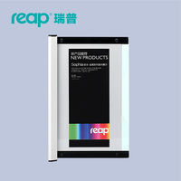 Reap 3101 Shopia Acrylic 120 297mm Indoor Horizontal Wall Mount Sign Holder Display INFO Poster Elegant
