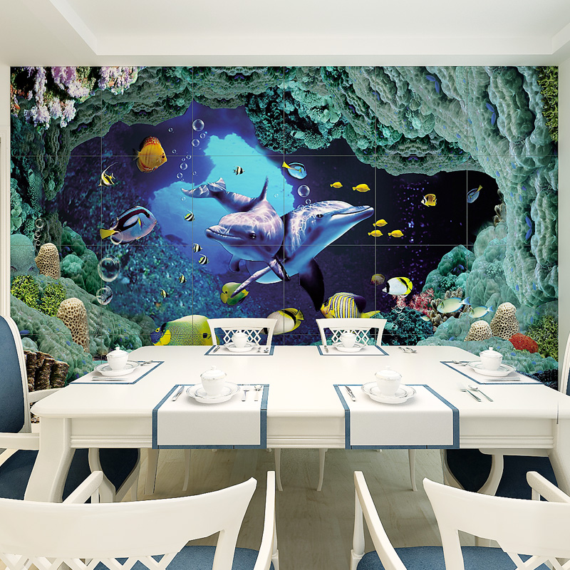 Free Shipping 3D custom living room TV background children room aquarium wallpaper mural Undersea animal mural  free shipping 3d stereo angel rome column fantasy wallpaper mural custom dining room children room background wallpaper