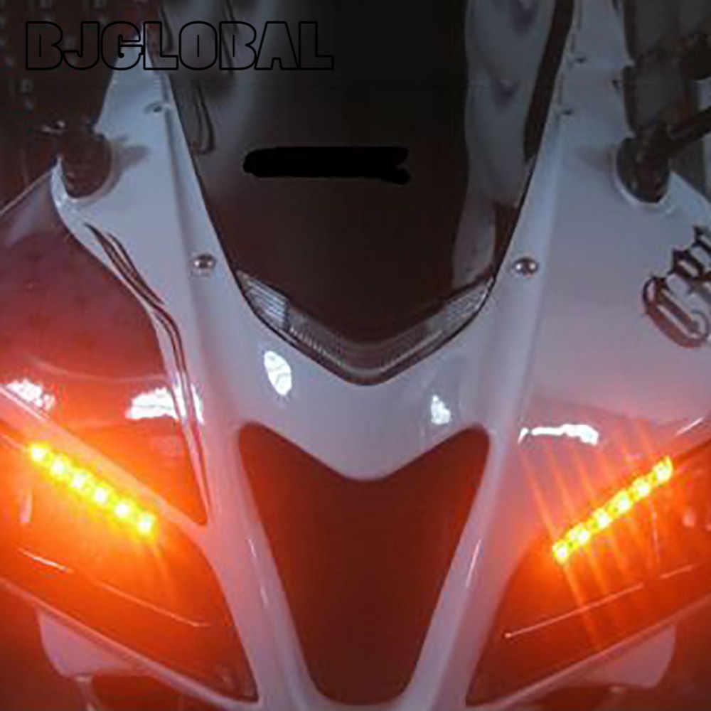 Universal Motorcycle Auto Flexibele Richtingaanwijzer en Running Light Bar Strips 12V LED Kenteken Tail Brake Stop lichten