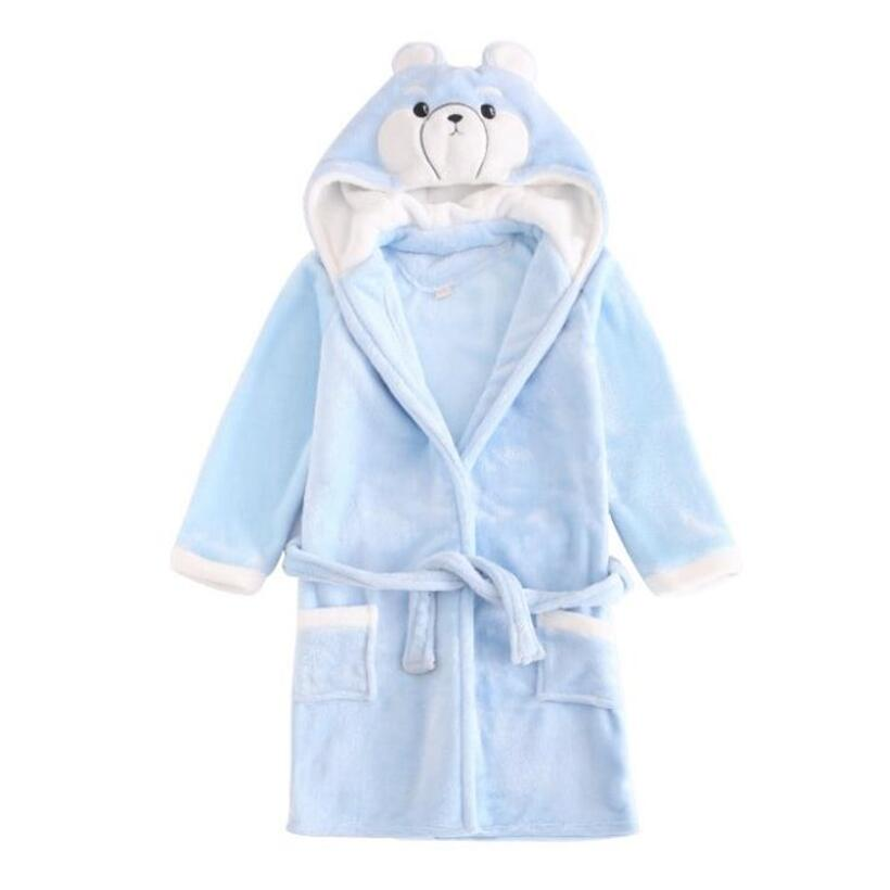 iAiRAY flannel fabric christmas pajamas for boy child night robe kids winter bathrobe boy cute cartoon home robe boys sleepwear стоимость