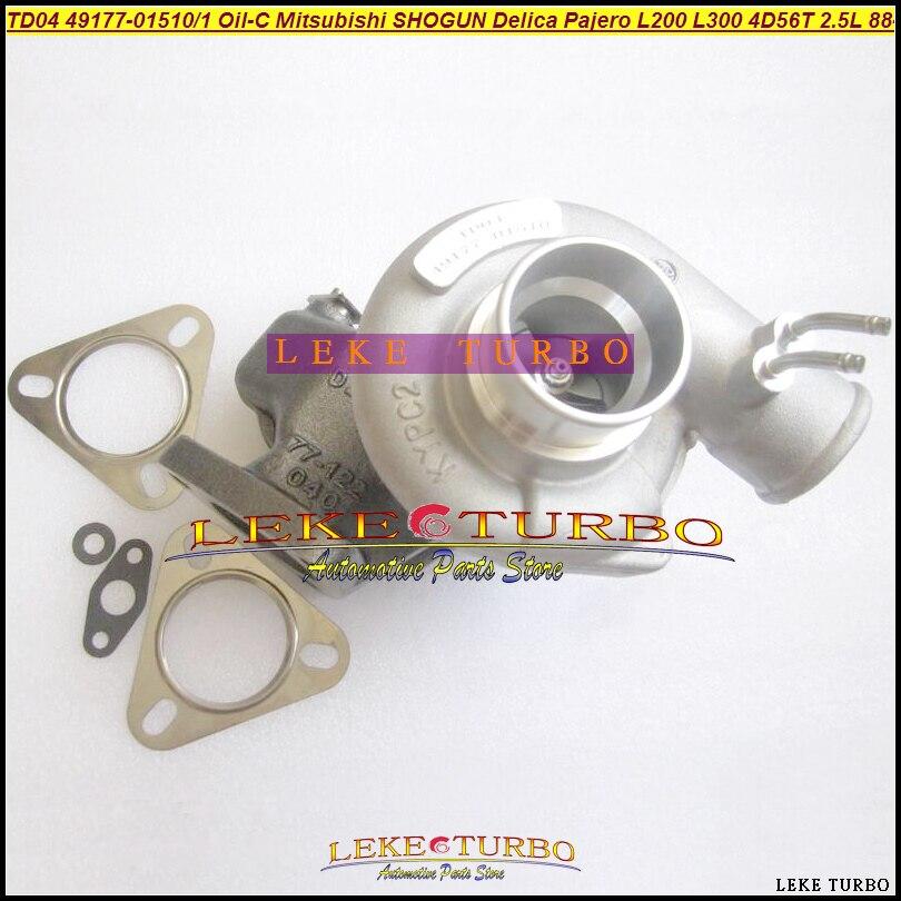 TD04 49177-01510 49177 01511 MD094740 MD106720 Oil Cool Turbo For Mitsubishi SHOGUN Delica Pajero L200 L300 88- 4D56T 4D56 2.5L