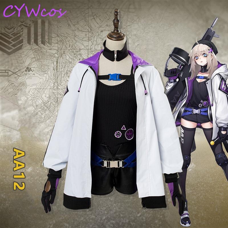 Anime Girls Frontline AA12 Cosplay Costume Women Uniforms ...