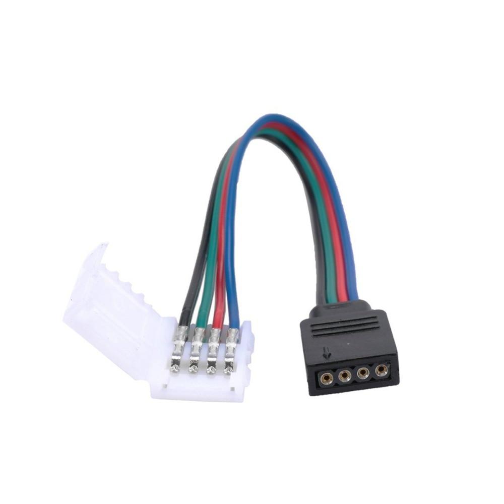 RGB LED Led streifen Steckverbinder 10mm 4Pin Kein Löten Kabel PCB ...