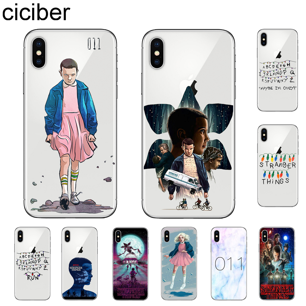 ciciber <font><b>Stranger</b></font> <font><b>Thing</b></font> <font><b>Phone</b></font> <font><b>Cases</b></font> For Apple <font><b>iPhone</b></font> 11 Pro Max X <font><b>XR</b></font> XS MAX 7 8 6 6s Plus 5 5S SE Soft TPU Cover Coque Fundas image