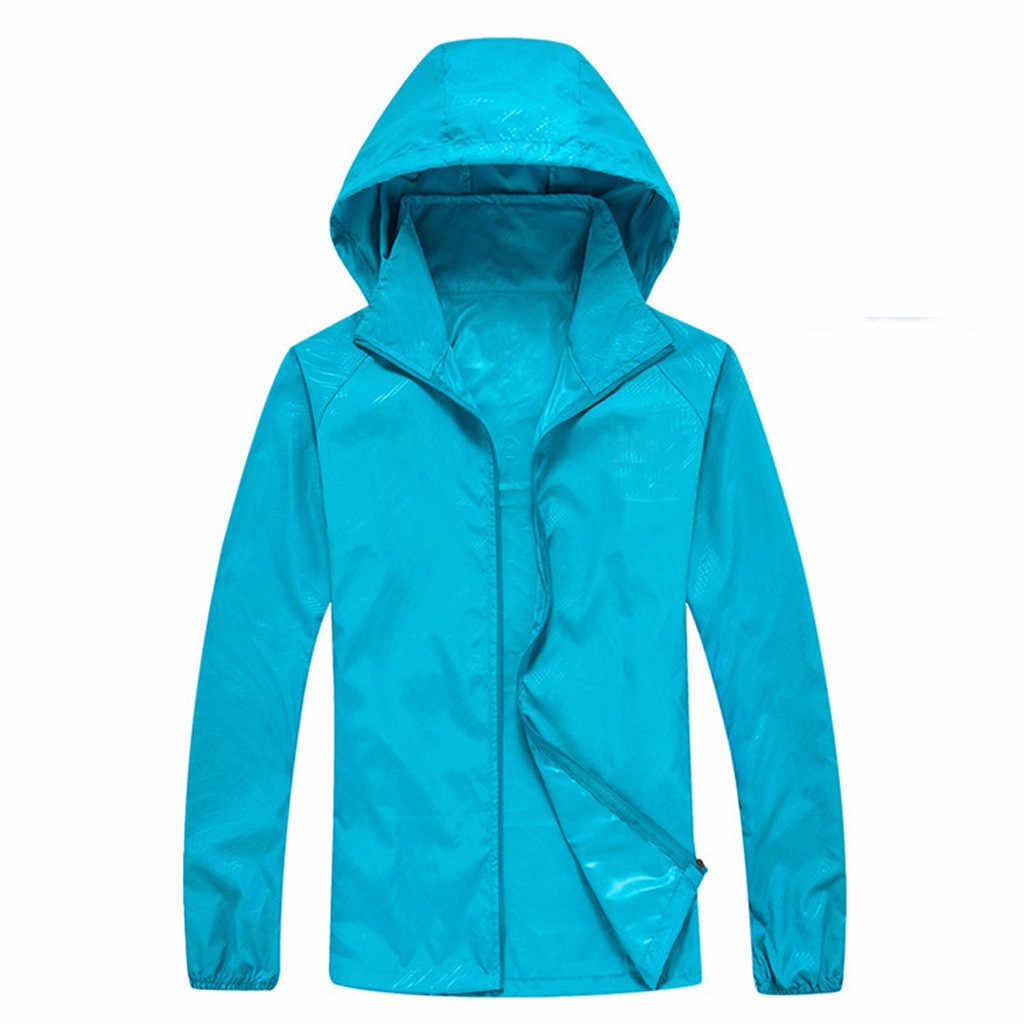 Новые мужские быстросохнущие кожаные куртки женские пальто Ультралегкая Повседневная ветровка водонепроницаемая ветрозащитная брендовая одежда
