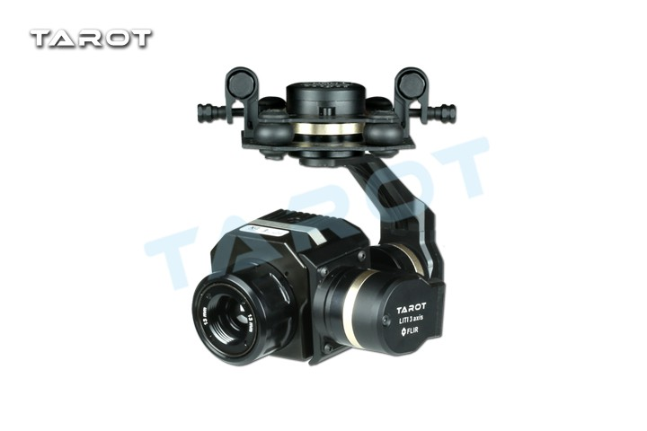 Caméra quadrirotor 3 axes à cardan PTZ sans balai FPV à Vue aérienne spéciale Tarot Flir pour Multicopter FPV RC modèle TL02FLIR