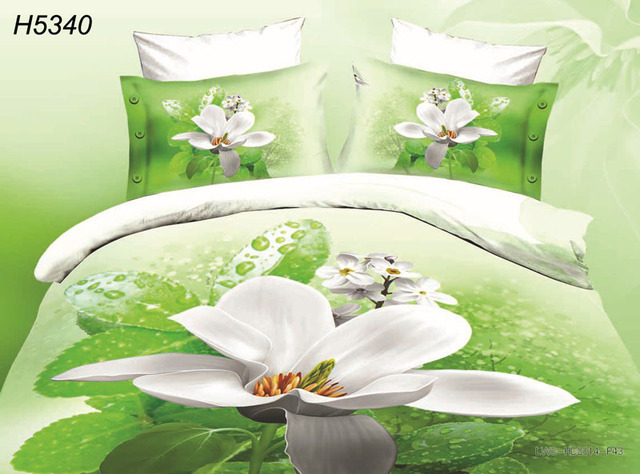 White Flower Bed Linen 3d Bedding Set Digital Hd Bedclothes 3d