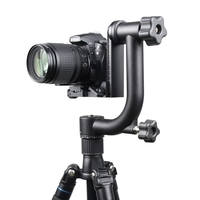 Professional Panoramic 360 Degree Gimbal Tripod Head 1/4 Screw For Nikon Canon DSLR Camera Telephoto Lens Quick Release Plate