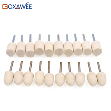 GOXAWEE 10pcs Dremel Accessories Polishing Wheel Polishing Tools Wool Felt Metal Surface Buffing Polishing Bits for Rotary Tools