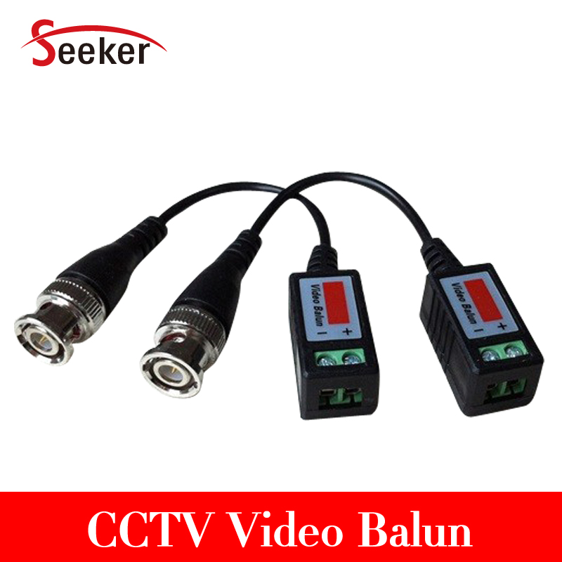 DHL Free Shipping Wholesale 100 Pair/ Lot 200pcs Passive UTP Balun Cat5 Rj45 Male BNC Connector Cctv Video Balun