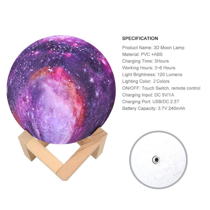 HTB1sZcOX6vuK1Rjy0Faq6x2aVXac New Arrival 3D Print Star Moon Lamp Colorful Change Touch USB LED Night Light Galaxy Lamp Home Decor Creative Gift Dropshipping
