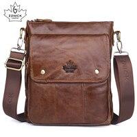 Men S Genuine Leather Shoulder Bag Messenger Bag Flap Ipad Men Bag Style Bag Solid Male
